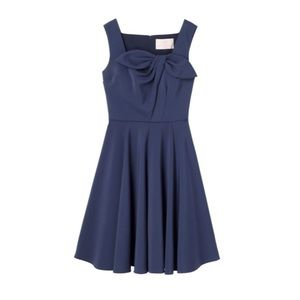 Gal Meets Glam Collection Zoe Bow Navy Dress 12